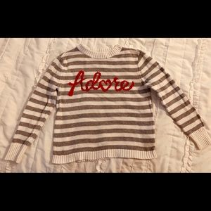 """Old Navy striped """"Adore"""" sweater"""